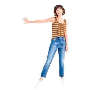 NWOT Madewell The High-Rise Slim BoyJean